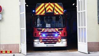Départ EPA 32m des Sapeurs Pompiers du CIS Finkwiller, SDIS 67 à Strasbourg