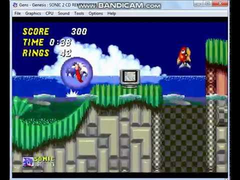 Let's Play Sonic 2 CD Remix on Gens11b SEGA Genesis Emulator