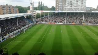 Au stade de charleroi contre Anderlecht