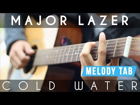 Cold Water - Justin Bieber (Major Lazor) Guitar Lesson | Chords & Melody (Tabs included)