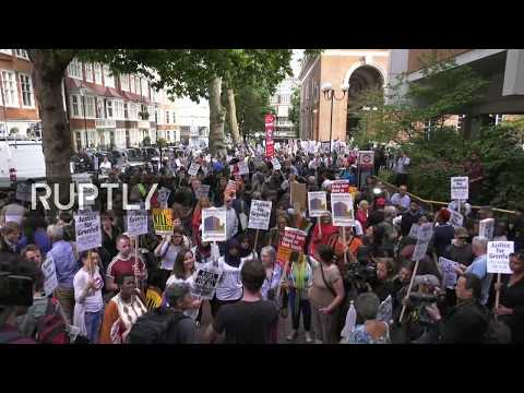 LIVE: 'Justice for Grenfell' protest takes place against local London government