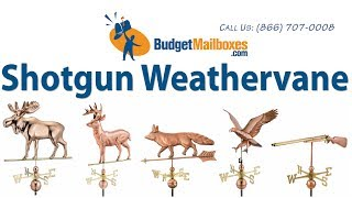 Budgetmailboxes.com | Good Directions 693p Shotgun Weathervane - Polished Copper