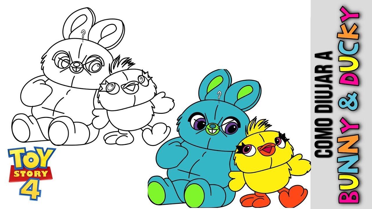 Como Dibujar A Bunny Y Ducky De Toy Story 4 Dibujos Para Dibujar De Personajes De Toy Story 4