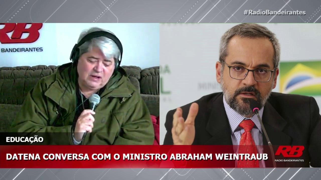 Abraham Weintraub em entrevista com Datena - 22/05/2020