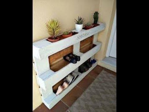 desain rak sepatu dari kayu bekas youtube. Black Bedroom Furniture Sets. Home Design Ideas