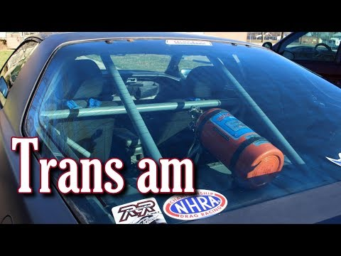 Trans Am Video - First Drive after Roll Bar Install