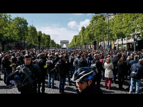 Protests build over French president-elect