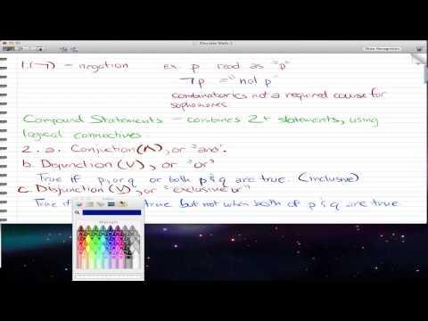 Discrete Math 1 - Tutorial 14 - Fundamentals of Logic