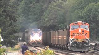 BNSF in the Cascades - Cascade Tunnel, 737s, and Empire Builders