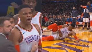 Russell Westbrook Gets ANGRY At Refs After Javale McGee Almost Injures Him On A Non-Call Foul!