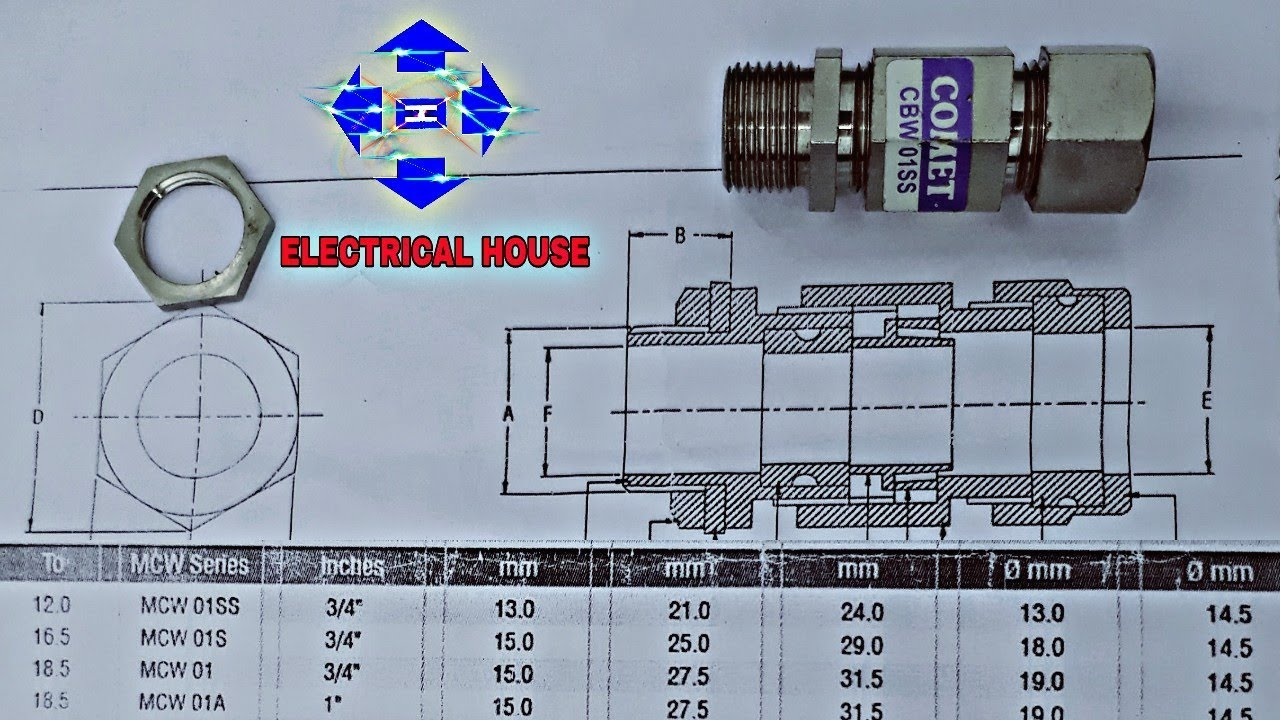 How to select chart gland size cable diagram hindi electrical house also rh youtube