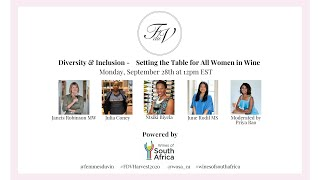 Femmes du Vin Harvest Seminar | Diversity and Inclusion - Setting the Table for All Women in Wine