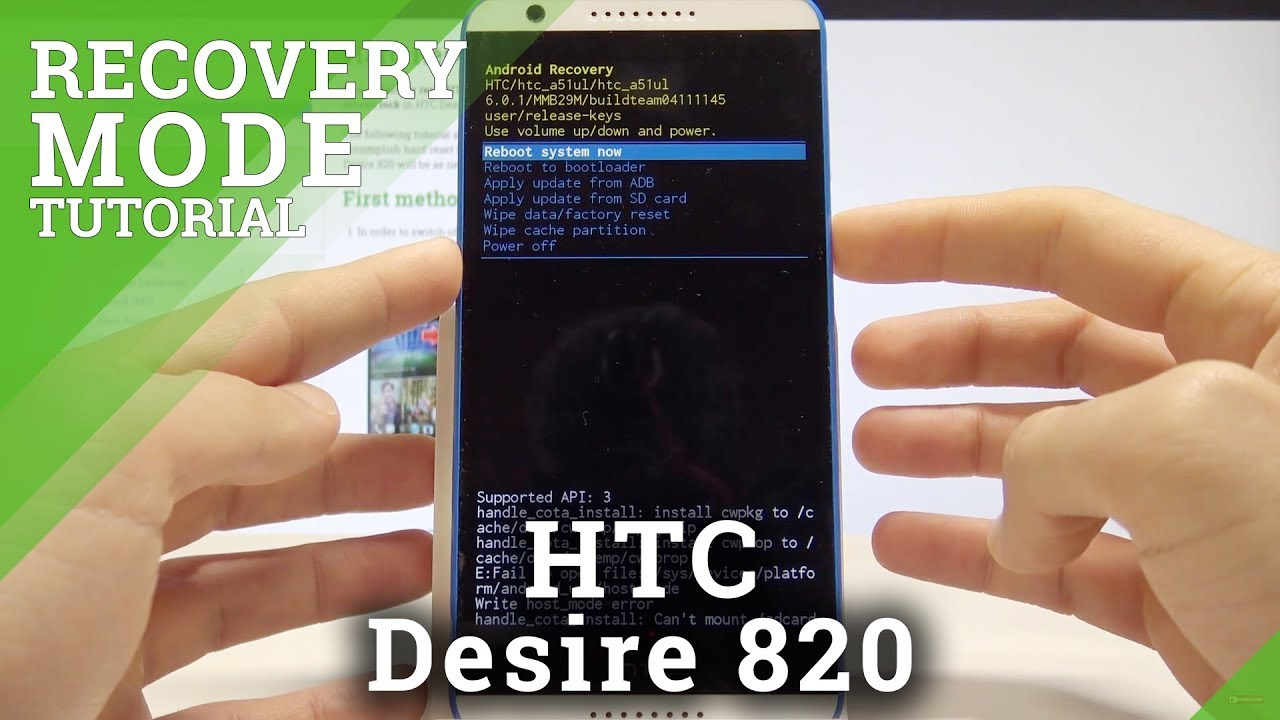Recovery Mode Htc Desire 820 How To Boot Into Htc Recovery Mode Youtube
