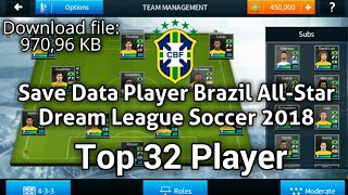 Brazil legends all players 100 dream league soccer 2018