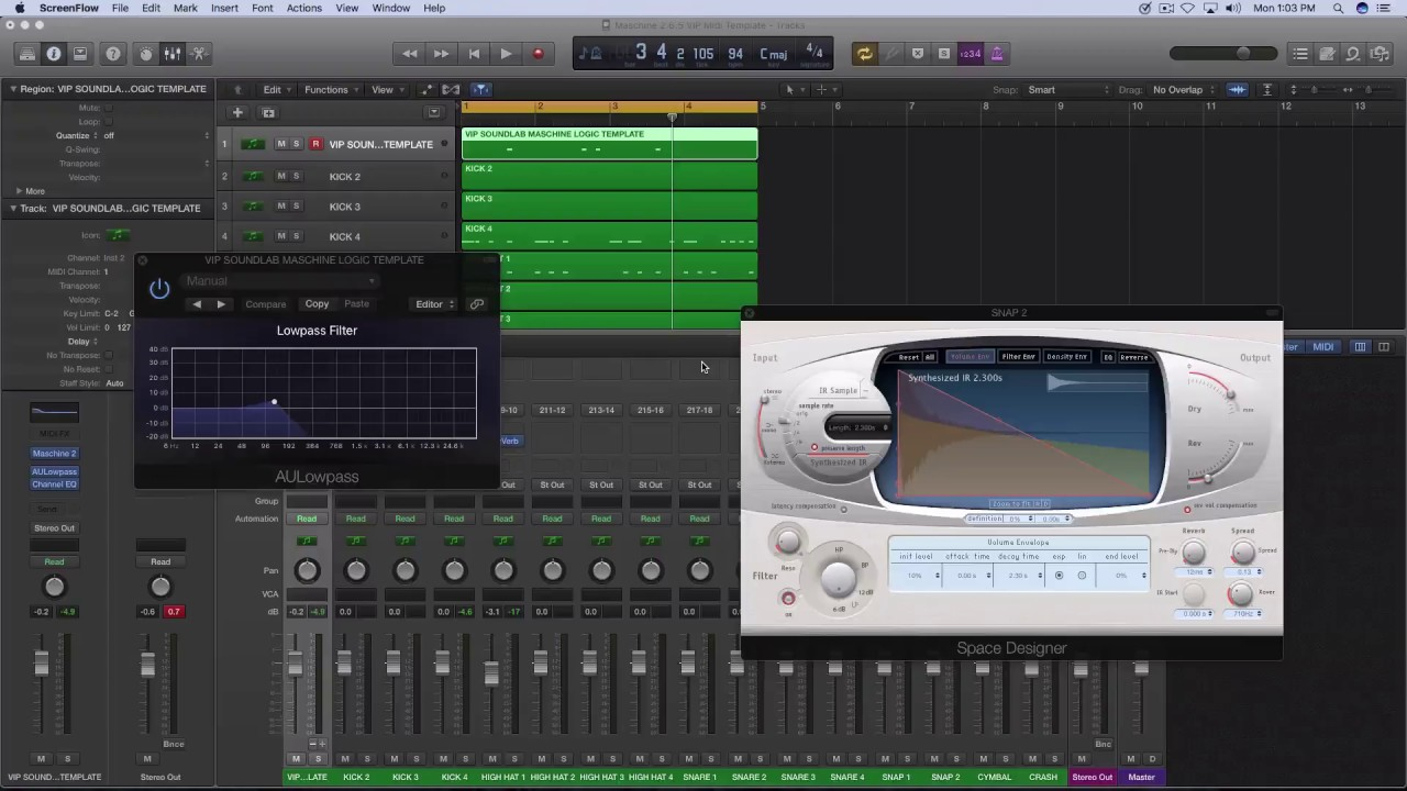 Logic Pro X + Maschine 2 6 5 MIDI Sound Module Template