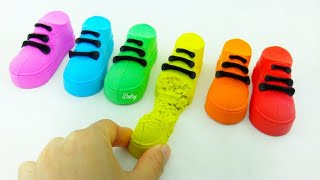 Satisfying Video l Kinetic Sand Shoes Cutting ASMR