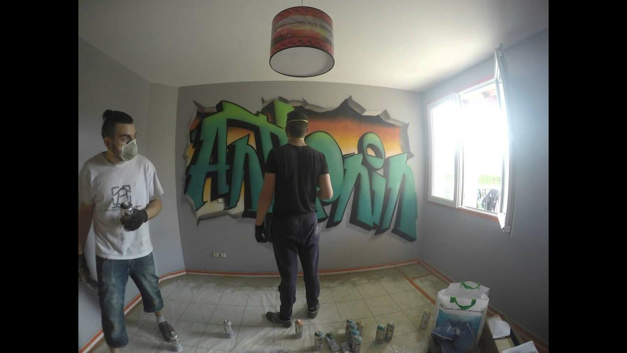Graffiti Chambre Anthonin, 2015 Mad House Spray Art