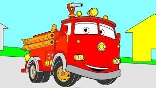 Раскраска из Мультфильма - Тачки Pixar (Pixar Cars): машина такси, гоночаная машина, пожарная машина