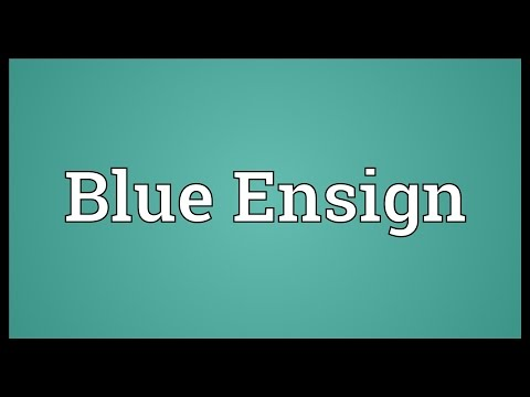 Blue Ensign Meaning