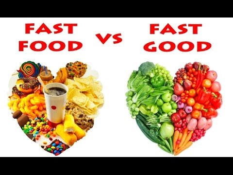 Fast food vs fast good 1 youtube for Cuisine vs food