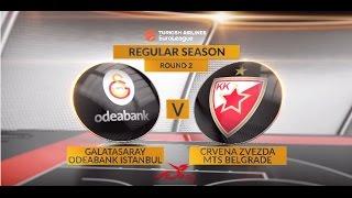 Highlights: Galatasaray Odeabank Istanbul-Crvena Zvezda mts Belgrade