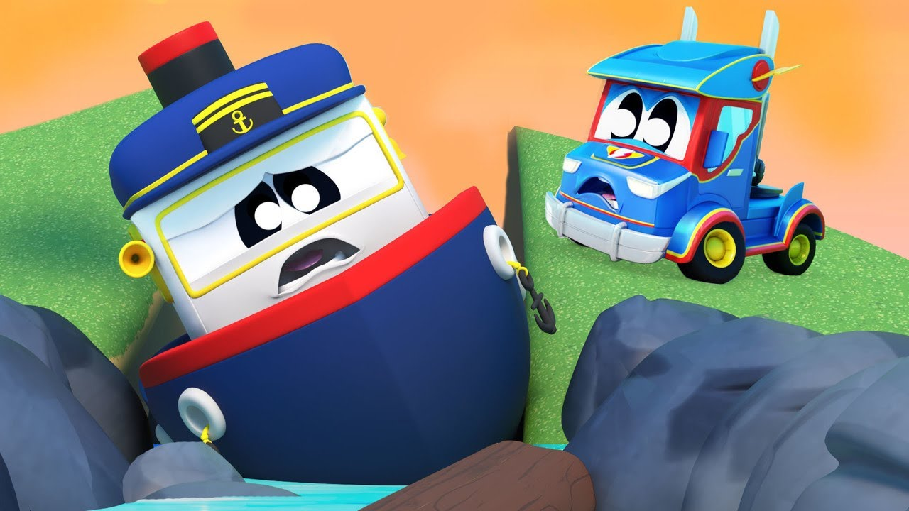Oh no! The BOAT is STUCK at the BEACH!   Super Truck   Car City World App