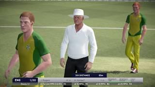 Australia vs England 2017 | 5 Overs Match | Don Bradman Cricket 17 PS4 Pro Gameplay  4K 60 FPS