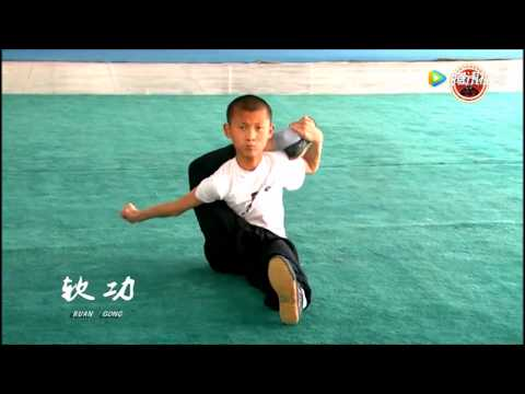 Training inside Chinese Kung-fu show team in Dengfeng