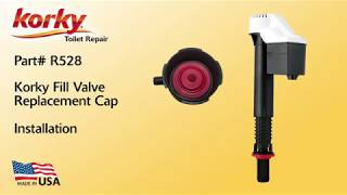 How to Replace Korky Toilet Fill Valve Replacement Cap
