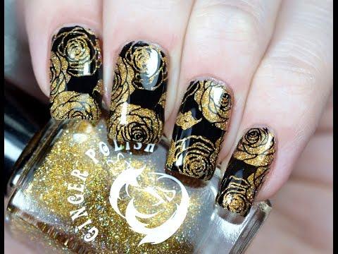 Красивый Дизайн Ногтей со Стемпингом    BornPrettyStore Stamping Nail Art Tutorial