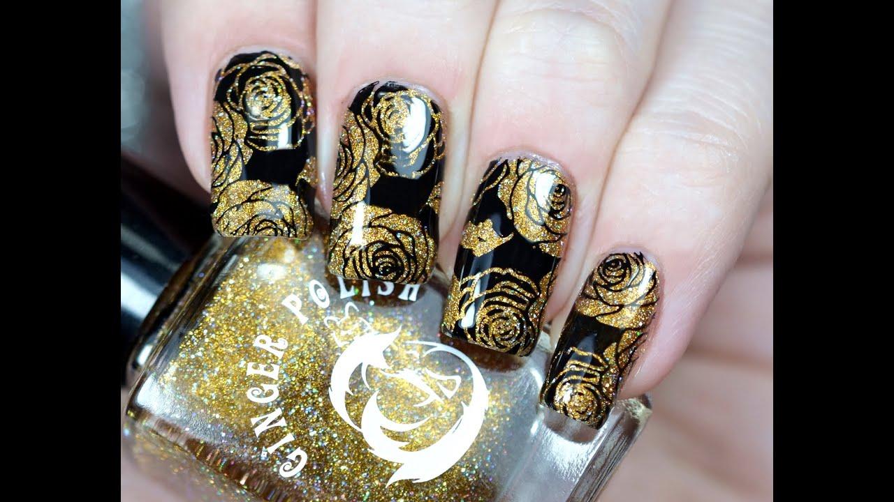 Красивый Дизайн Ногтей со Стемпингом | BornPrettyStore Stamping Nail Art  Tutorial