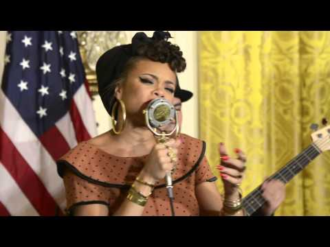"Andra Day ""Rise UP"" at The White House - Travis Riddick"