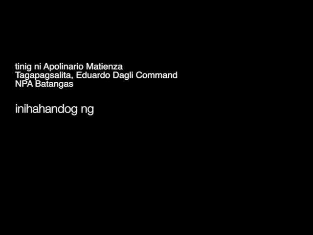 Taktikal na Opensiba sa Nasugbu, Batangas (Eduardo Dagli Command, NPA-Batangas)