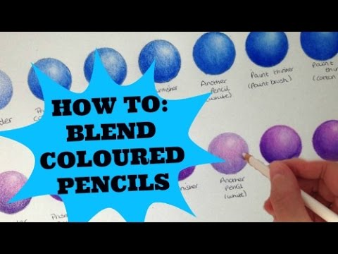 How To Blend Coloured Pencils Youtube