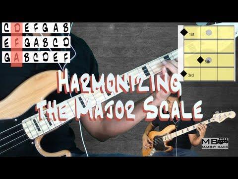 Bass Basic 8: Harmonizing the Major scale