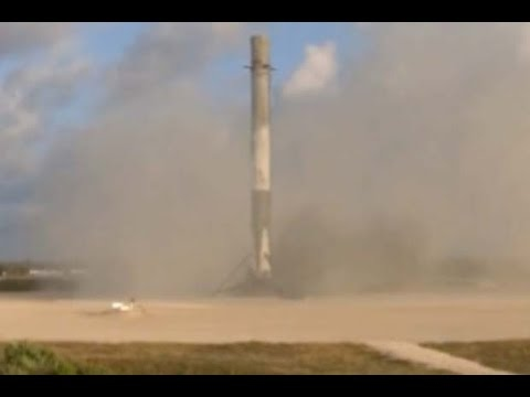 Touchdown! SpaceX First Stage Lands After Launching Spy Satellite