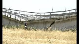 Cede viadotto sulla strada statale Licata Ravanusa -- TRC -- Tele Radio Canicattì