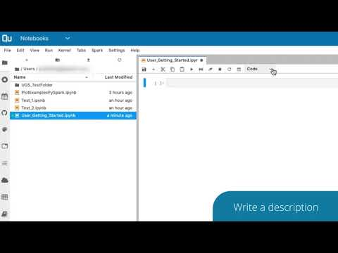 Notebooks: Create and Execute a Notebook