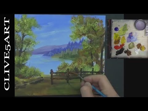 Mountains Water landscape Acrylic Painting on Canvas for Beginners