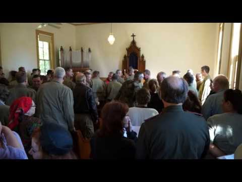 WW2 D-Day Church Service - England - France 1944