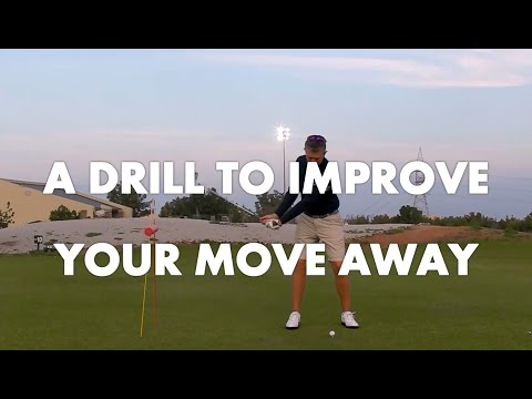 Golf Lesson - Move away Drill