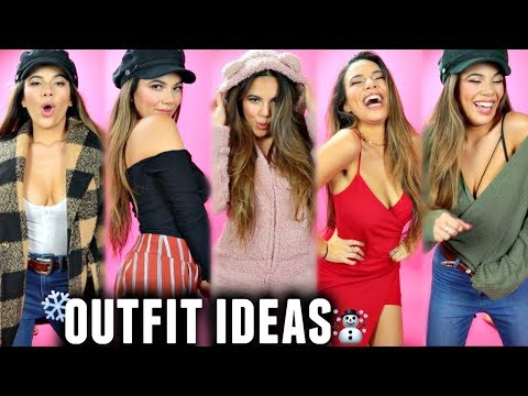 WINTER OUTFIT IDEAS! For when you don't know what to wear | Try-On Haul/Lookbook 2017