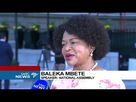 Speaker Mbete on the sate of readiness for SONA
