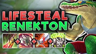 THIS LIFESTEAL RENEKTON IS ACTUALLY UNKILLABLE! FULL LIFESTEAL RENEKTON GAMEPLAY! League of Legends