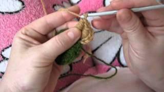 """Витой столбик""-видеоурок по вязанию крючком фриформ."