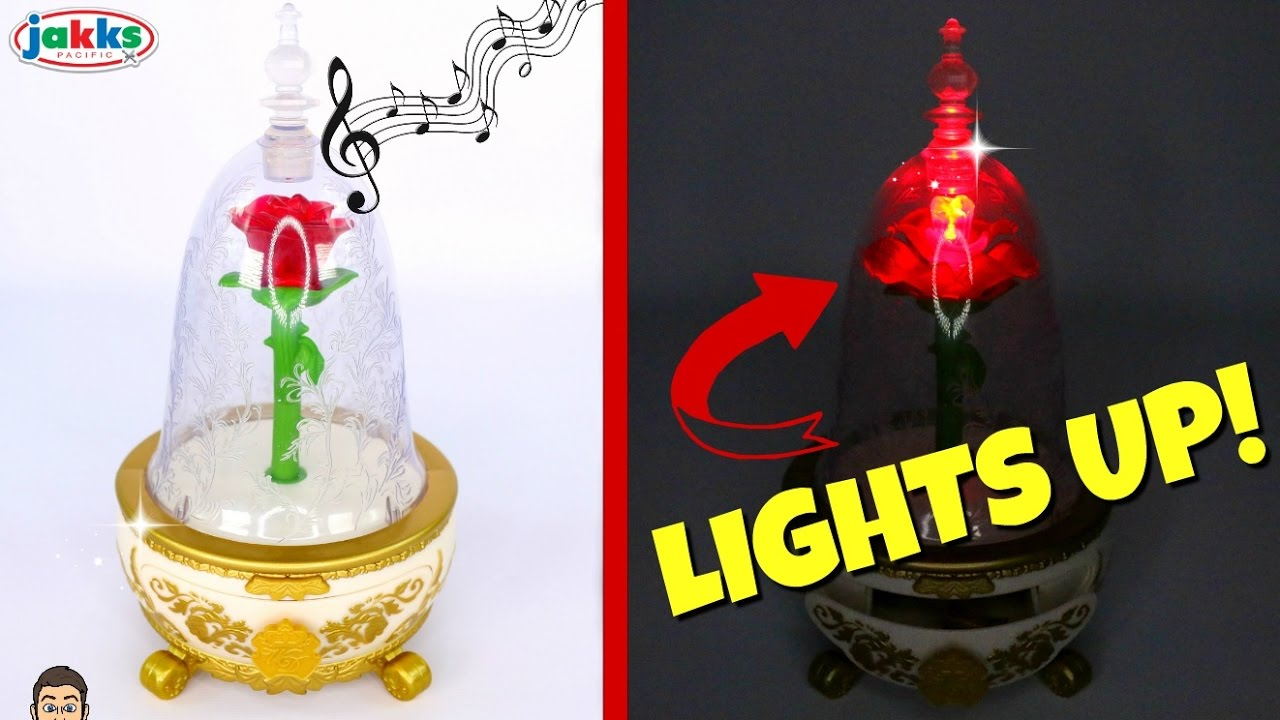 Beauty The Beast Live Action ENCHANTED ROSE LIGHT UP SINGING