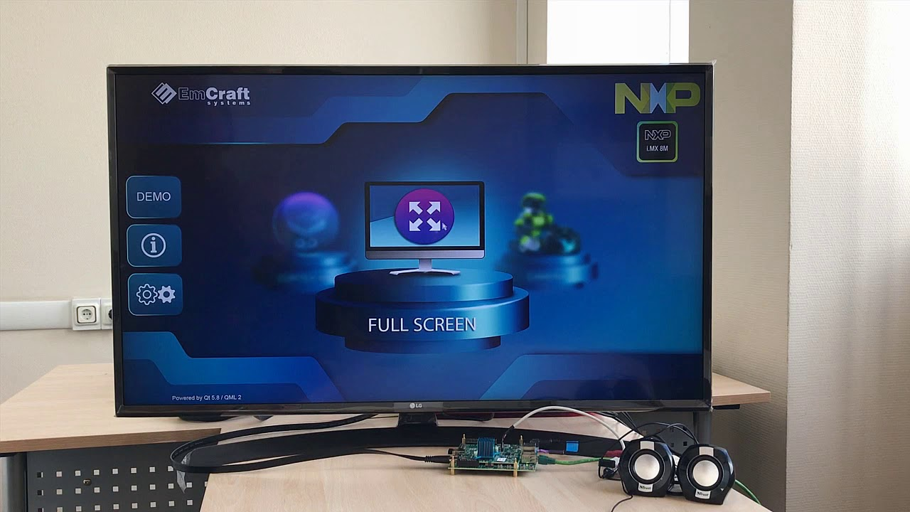Emcraft i MX 8M demo: Advanced HMI, Video, Audio, Alexa AVS