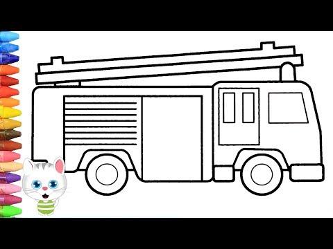 Cara Menggambar Truk Pemadam Kebakaran Dengan Mimi Cara Menggambar Dan Mewarnai Tv Anak Youtube