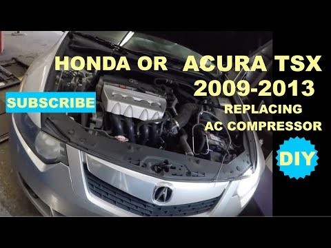 How to replace AC compresson on 2009-2013 Acura TSX