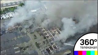 Пожар на складе в Северном Медведкове полностью потушен